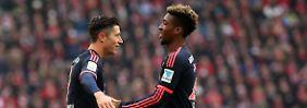 Pizarro und Schürrle retten Punkte: Lewandowski schießt die Bayern zum Sieg