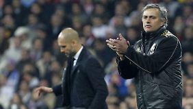 Gibt es ein mögliches Duell der Giganten Josep Guardiola (l.) und José Mourinho?