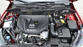 Der 1,5 Liter Diesel des Mazda2 erfreut vor allem durch seinen geringen Durst.