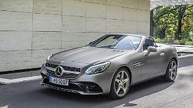 Der geliftete Mercedes SLC kommt ebenfalls im April auf den Markt.