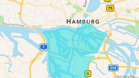 Die Warnung galt für die blau markierten Gebiete.