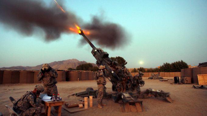 Die USA haben nach eigenen Angaben rund 200 Marine-Infanteristen im Einsatz.