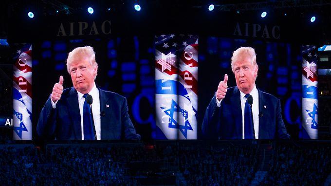 Donald Trump inszeniert sich als großer Israel-Freund und Nahost-Experte.