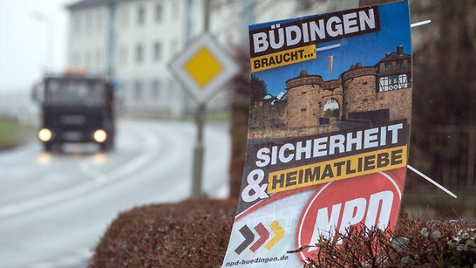 Die NPD holte im hessischen Büdingen bei den letzten Kommunalwahlen 14 Prozent.
