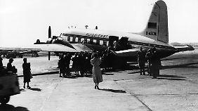 Der Condor-Pionierflug 1956 ging nach Jerusalem.