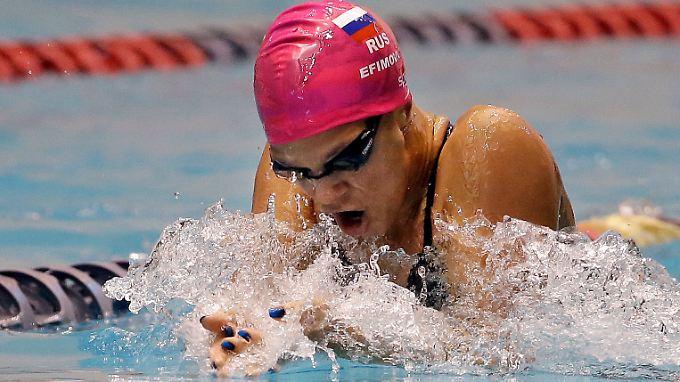 Weltmeisterin Julia Jefimowa ist der letzte prominente Dopingfall im russischen Schwimmsport.