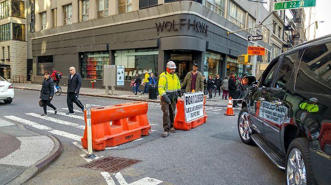 Immer mehr Straßen müssen wegen ihres Zustandes in New York gesperrt werden.