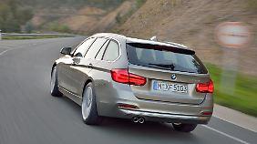 Die Heckklappe lässt sich beim BMW 3er Touring separat öffnen.