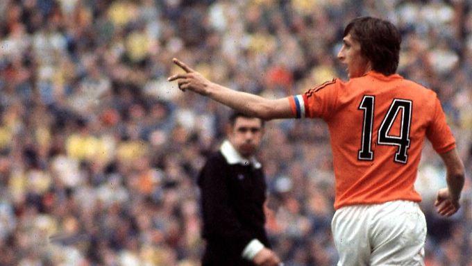Mit der Nummer 14 wurde Johan Cruyff zur Legende.