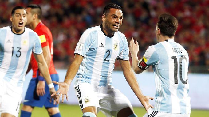 Gabriel Mercado traf in der 24. Minute zum 2:1-Endstand.