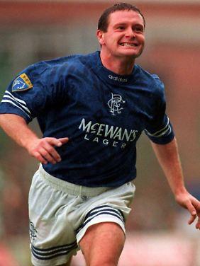 """Im Trikot der Glasgow Rangers erlebte """"Gazza"""" seine erfolgreichste Zeit als Klubfußballer."""