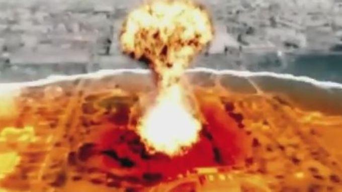 In dem neuesten nordkoreanischen Propagandavideo schlägt eine Atomrakete in Washington ein.