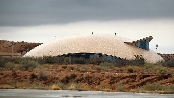 "Futuristisch: Der ""Spaceport America"" in der Nähe von Truth or Consequences, New Mexico."