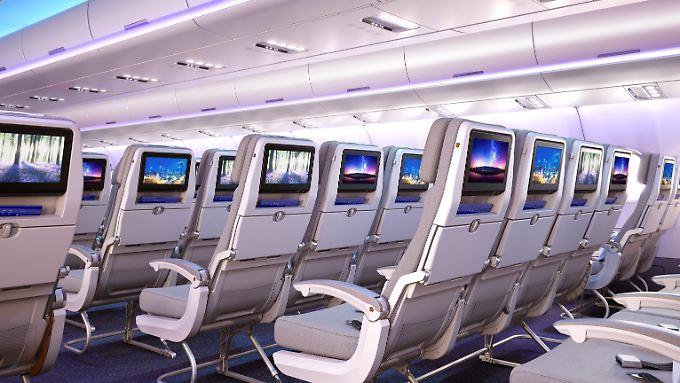 Airbus will mehr Sitze in den neuen Variante des A330 einbauen - und den Passagieren zugleich mehr Platz einräumen.