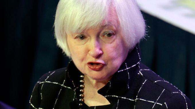 US-Notenbankchefin Janet Yellen will keine weiteren Zinserhöhungen forcieren.