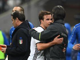 Fühlt sich beim Bundestrainer augenscheinlich wohler als bei Guardiola: Mario Götze