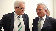 """Kretschmann (l.) und Strobl """"können ganz gut miteinander"""", heißt es."""