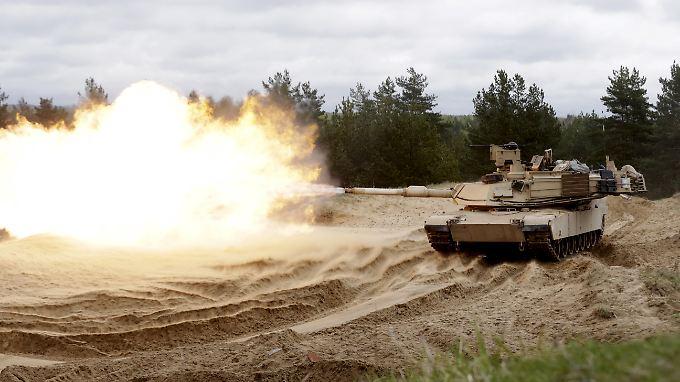 Ein M1-Abrams-Panzer bei einer Übung in Litauen: In Osteuropa sind bereits zwei Panzerbrigaden stationiert, eine dritte soll nun folgen.