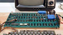 Der Apple-1 - der erste Computer von Steve Wozniak aus dem Jahr 1976.