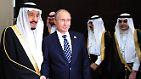 Darüber hinaus soll eine Luxusjacht auf den Namen der Firma registriert sein, die der König (l.) regelmäßig benutzt. Neben dem saudischen Monarchen soll auch sein Thronfolger und sogar Russlands Präsident Putin in die Affäre verstrickt sein.