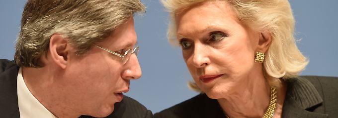 Halten die Zügel bei Schaeffler in der Hand: Georg Schaeffler und seine Mutter Maria-Elisabeth Schaeffler.