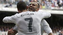 Jubel nach dem dritten Tor: Reals Cristiano Ronaldo und der Kollege Jese Rodriguez.