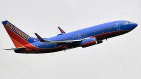 Eine Boeing 737 der Southwest Airlines aus Texas.