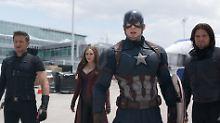 An der Seite von Captain America (2.v.r.) kämpfen Hawkeye, Scarlet Witch und der Winter Soldier (v.l.).