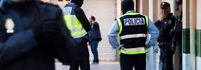 Wie auf diesem Archivbild vom April musste die spanische Polizei erneut gegen IS-Unterstützer ausrücken.
