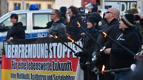 Ausschreitungen an Hitlers Geburtstag: Rechte Demonstranten marschieren in Jena auf