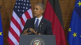 """""""Wie nennt ihr das nochmal?"""": Obama macht die Merkel-Raute"""