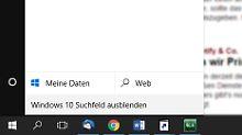 Mehr Platz in der Taskleiste: Windows-10-Suchfeld kann man ausblenden