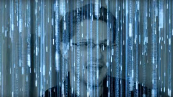 """Stolz auf das """"große Kulturprojekt"""": Edward Snowden."""