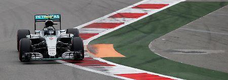 Vettel stark im Sotschi-Qualifying: Rosberg holt die Pole, Hamilton im Pech