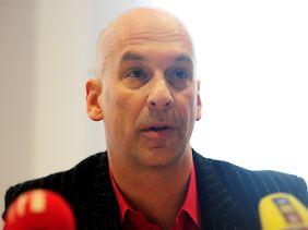Der Regisseur Volker Loesch von den Stuttgart 21-Gegnern.