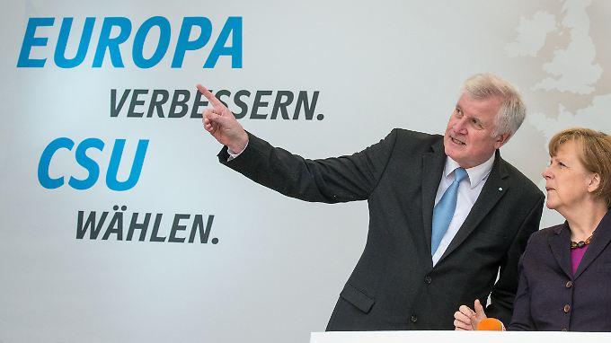 CSU-Chef Seehofer will seinen Wählern zeigen, dass seine Partei nicht die CDU ist.