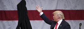 Der republikanische Präsidentschaftskandidat bei einem Wahlkampfauftritt in Rome. Als Unternehmer hat er bereits mehrere Insolvezen hinter sich.