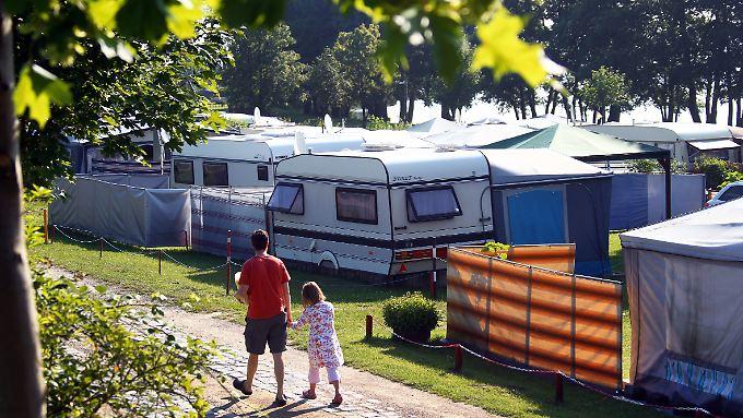 Die Campingplätze sind auch schon in der ersten Jahreshälfte gut besucht.