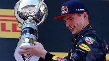 Fest steht: Max Verstappen wird seine Formel-1-Karriere nicht ohne Siegerpokal beenden müssen.