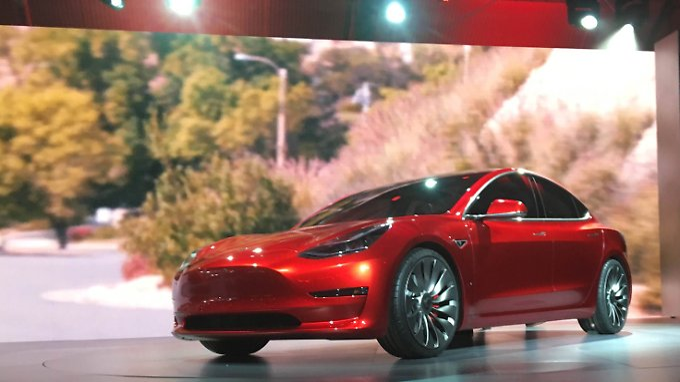 "Tesla ""Model 3"" Sedan"