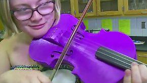 Zugang zur Musik für ärmere Kinder?: Schülerin fertigt Plastik-Geige mit 3D-Drucker