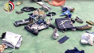 Neue Erkenntnisse zum Absturz: Körperteile deuten auf Explosion in Egypt-Air-Flugzeug hin