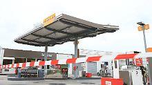 Auch diese Total-Tankstelle ist wegen Streiks geschlossen.