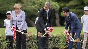 G7-Gipfel in Japan: Europäer fordern Unterstützung in der Flüchtlingskrise
