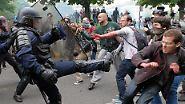 Teile Frankreichs lahmgelegt: Arbeitsmarktreform führt zu heftiger Wut und Gewalt auf der Straße
