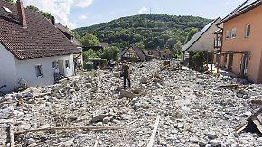 Banger Blick aufs Wetter: Braunsbach räumt auf