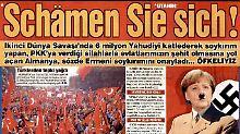 Nach Armenien-Resolution: Türkische Presse zeigt Merkel mit Bärtchen