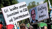 Klare Worte der Demonstranten in München