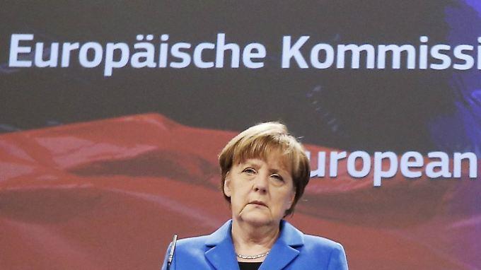 Bei vielen Brexit-Anhängern nicht so gern gesehen: Angela Merkel in Brüssel.