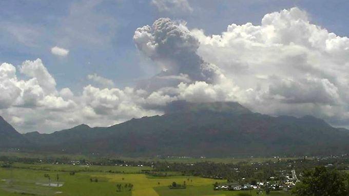 Seit 1865 ist der Bulusan bereits 16 mal ausgebrochen.